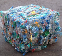 Post Consumer Recycled Waste Plastic PET Bottles Bales