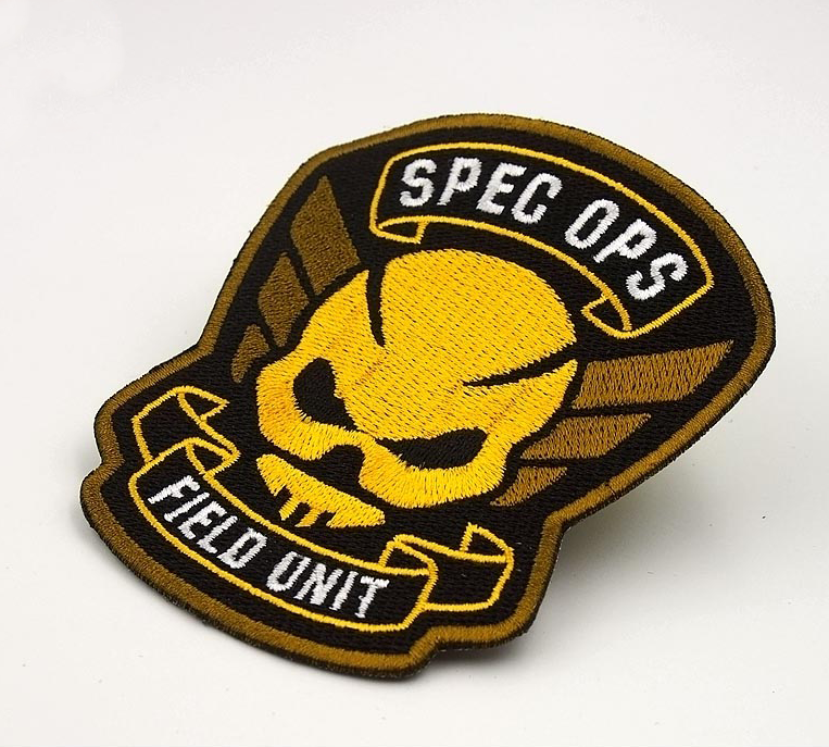 3D logo design embroidered patch