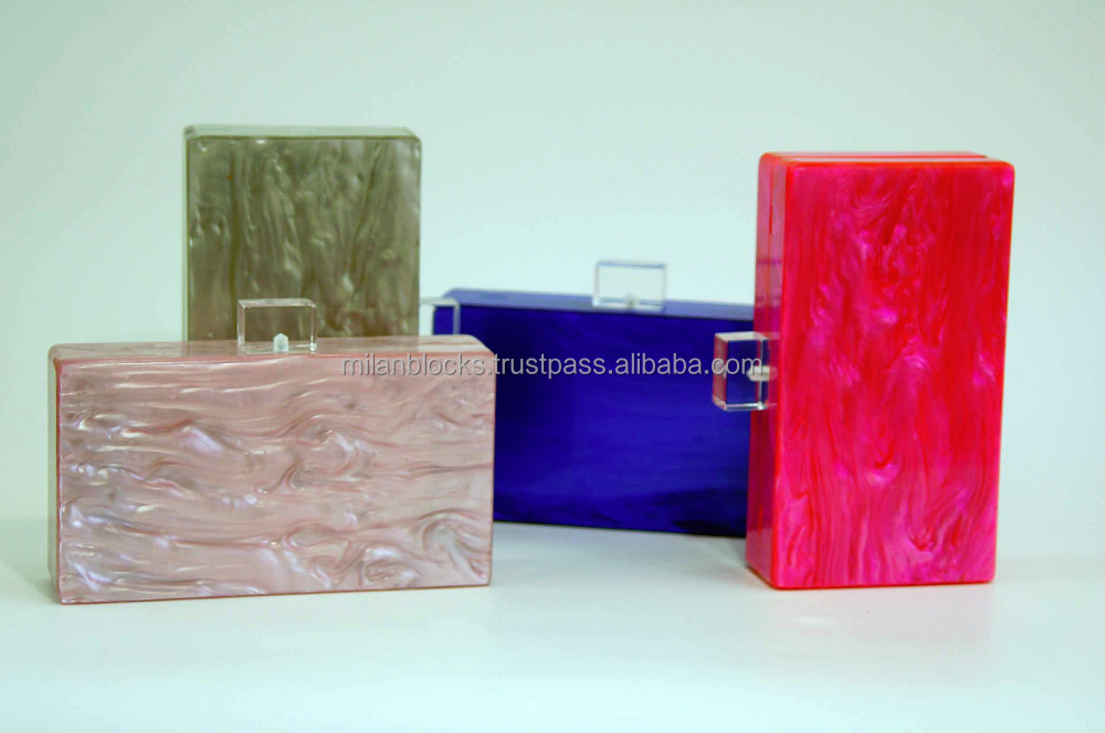 Whoelsale Colorful Box Acrylic Evening Clutch