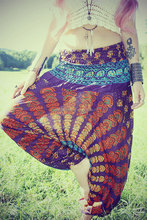 Indian GYPSY Handmade Cotton Long Skirtdesign traditional mandala skirt