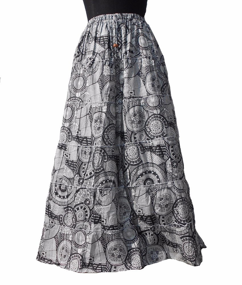 2017 New Design Summer Female Cotton Lace Long short Skirt