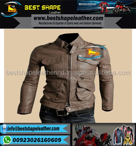 2017 Fashion Men black Lamb Leather Jacket/men leather jackets/Pakistan leather jackets
