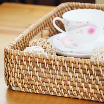100% Natural Rattan Furniture Decoration Storage Basket from Vietnam Manufacture