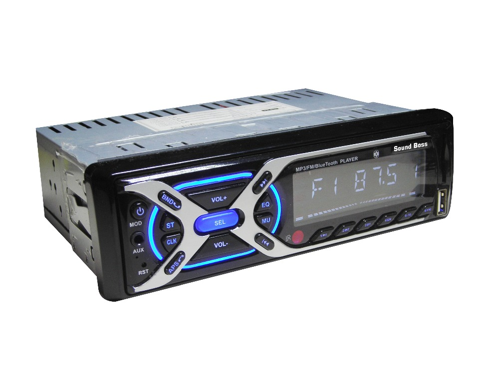 Sound Boss Sb-28 Bluetooth Wireless With Phone Caller Id Receiver Car Media Player (Single Din)