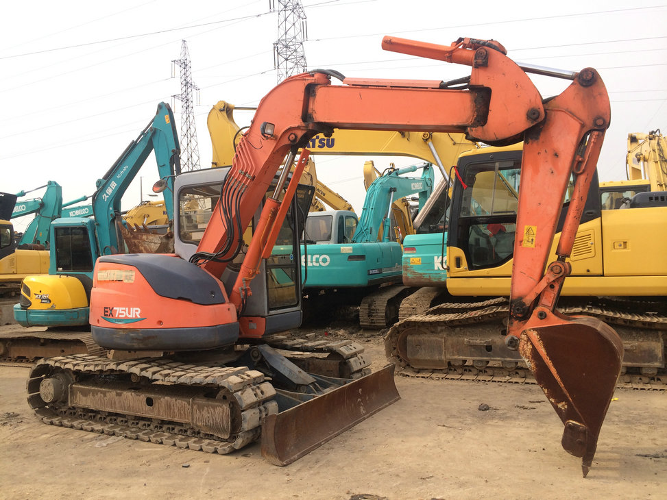 cheap japanese hitachi ex75ur excavator used excavator for sale