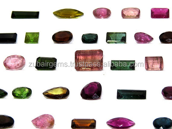100Crt Lot SUPER FINEST QUALITY 100% Natural Multi Tourmaline Faceted Cabochons 8X6X4MM - 13X10X7MM On Wholesale Price