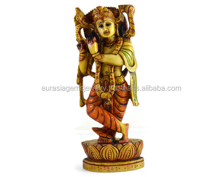 Handmade Handpainted Sculpture Resin Handicraft lord krishna idols