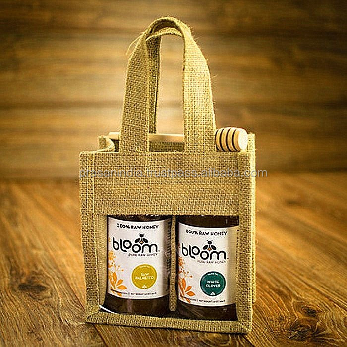 Promotional Jute Bag Custom Drawstring Wine Bag Simple Plain Jute Bag For Packing