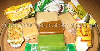 Coconut candy (Durian, Coconut, Peanut and cocoa) (Ms. Amy- WhatsApp: +84 1683 655 628)