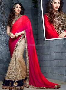 Saree plain crepe