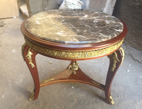 French marble top entrance table