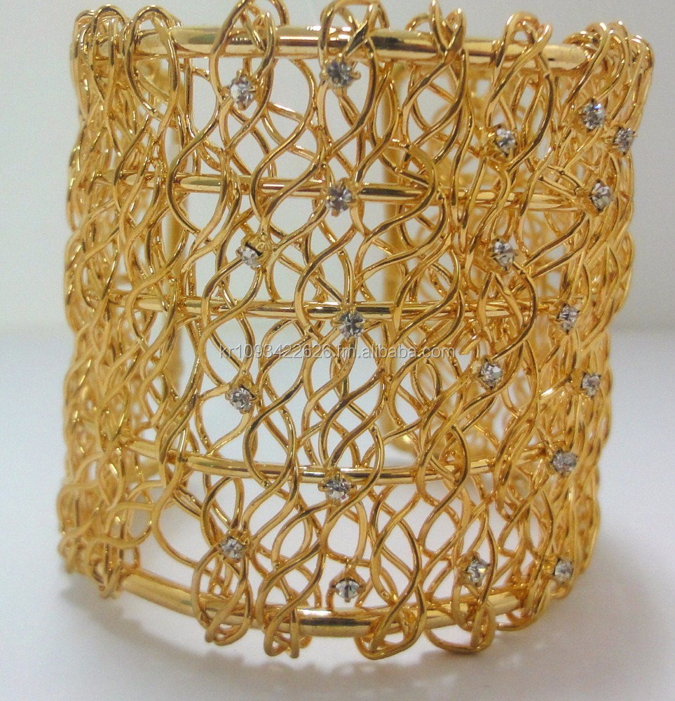 Gold plated fashion bracelet(Nickel/Lead free) imitation jewelry for wholesale- korean product.
