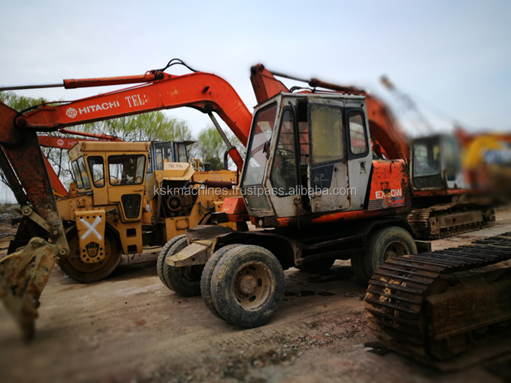 Hitachi ex120 used wheel excavator sale