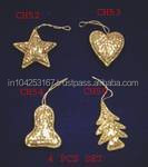 christmas tree decoration,gold star christmas decoration, felt decoration christmas tree made in india