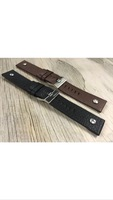 Genuine Leather Watch Strap, 22mm, 24mm, 26mm, 28mm, Black, Brown W/Bolt