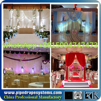 stage backdrop material where to buy pipe and drape, wedding altar backdrop