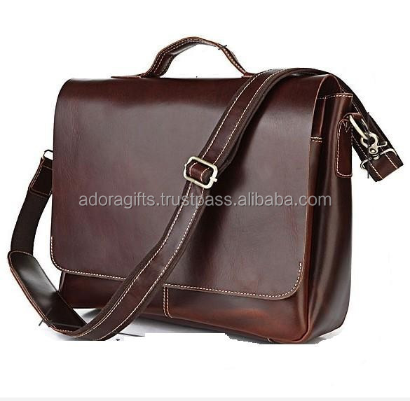 Good Quality Cheap Genuine Leather Conference Bag