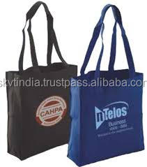 navy blue dyed fabric shopping bags