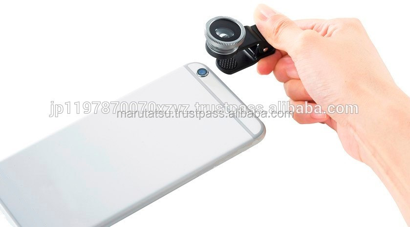 Universal portable clip lens smart phone accessories with lens cover