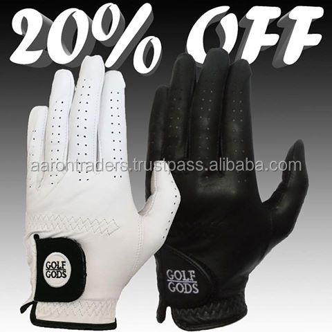 Black and white Golf Gloves Super quality Glof Gloves