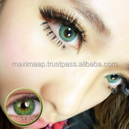ColourVUE Fusion Yellow Green, Natural Mix of Pretty Contact Lenses