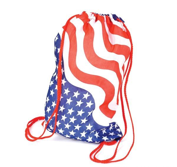 "15"" COTTON STARS AND STRIPES BACKPACK"