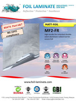 MS2095 fire retardant double sided aluminium woven foil