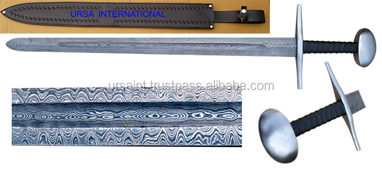 Custom Viking Sword/Steel Guard & Pommel, Wooden covered with leather Handle UI-1001