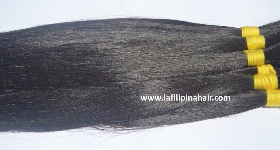 Bulk Hair Filipino Human Hair #1B in Single Drawn in Philippines