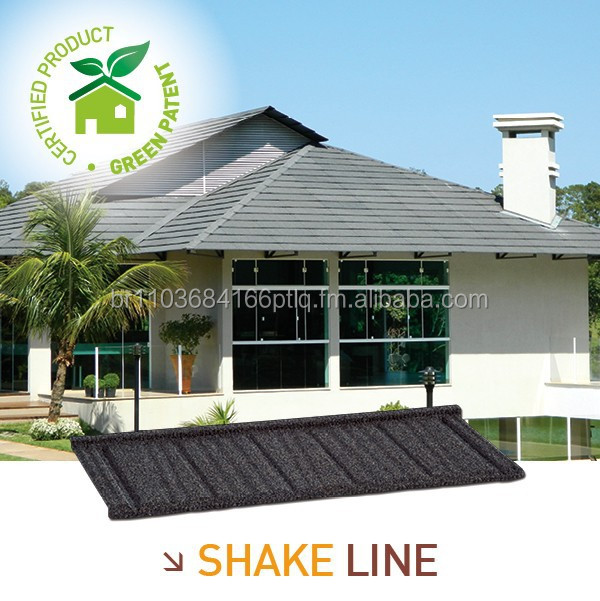 Stone coated metal tile