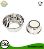 Stainless Steel Anti Skid Dog Pet Bowl Silicon Bottom