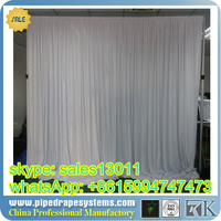 RK wedding pipe and drape with double hat crossbar ,portable pipe and drape for promotional