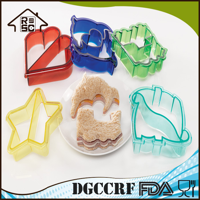 Food Grade Sandwich Cutter,Plastic Sandwich Cutter Bread Cutter Different Shape