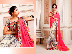 Saree wholesaler in kolkata / Saree with heavy stone work / Saree blouse hand designs