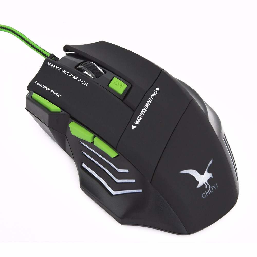 Newest 3200 Adjustable DPI Game Mouse Best 7D Gaming Mouse with Breath LED Light