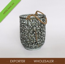Cheap antique bamboo lantern in Vietnam / bamboo candle holder, andle lanterns wholesale