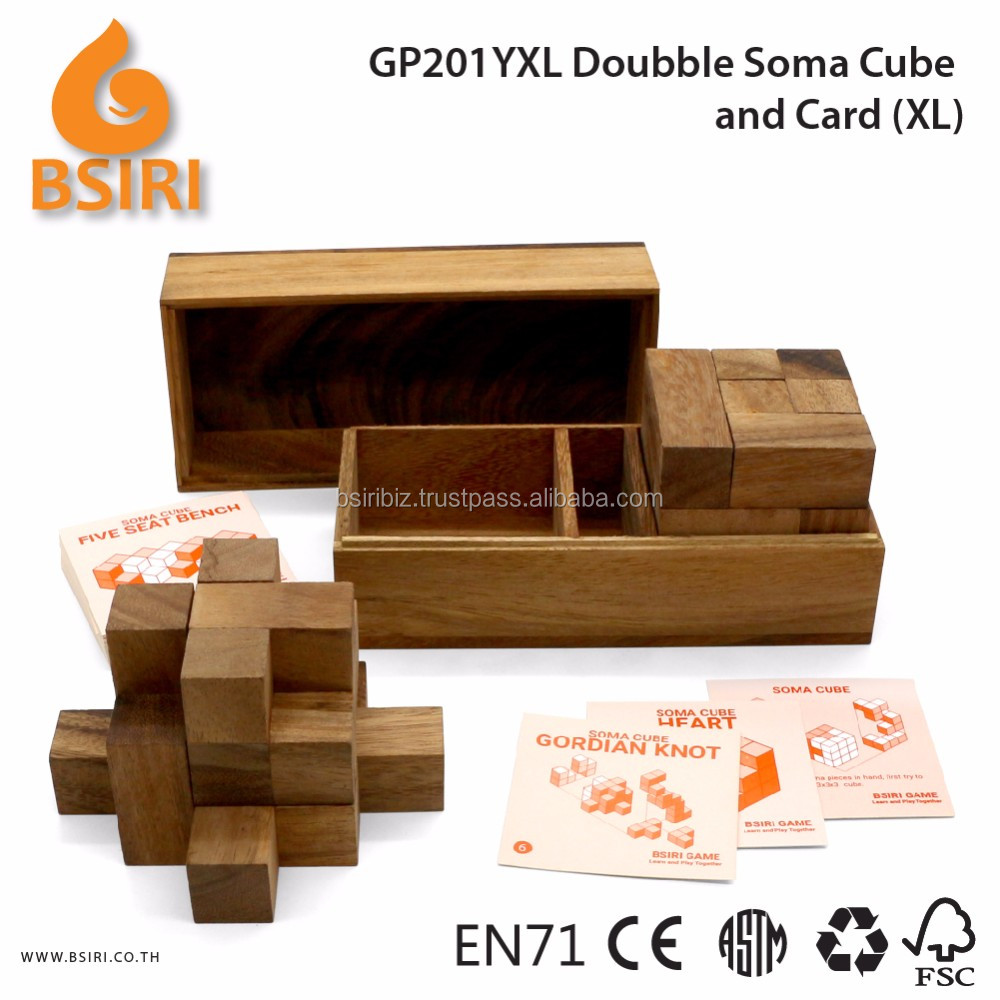3d Jigsaw Doubble Soma Game and Card Wooden Puzzles