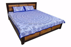 jaipur sanagari print famous USA,UK 100%Cotton Bed Sheet Designs,Bed Sheet Set Quilt Cover Bed
