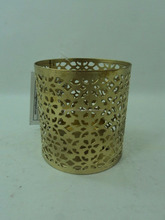metal gold small votive candle holder