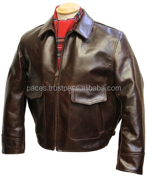 Landing Leathers Air Force Men's Leather Flight Bomber Jacket