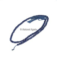 Gemstone Iolite Faceted Rondelle Beads
