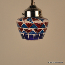 Light Outdoor Hanging Designer Ethnic Indian Lalhaveli Hanging Glass Lamps