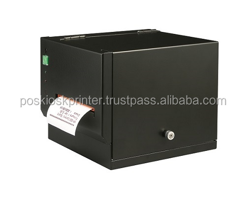 Black 80mm Thermal POS Steel TICKET PRINTER HP-825US USB AND Serial INTERFACE RECEIPT PRINTER