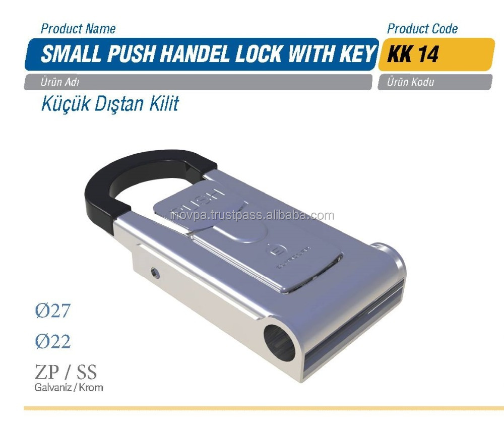 Refrigerated Truck Small Push Handel Lock with Key / Refrigerator Van Truck Parts Accessories