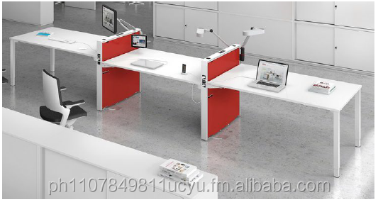 Office Furniture- KHOMI - 3 Seater Linear w/ Side Divider