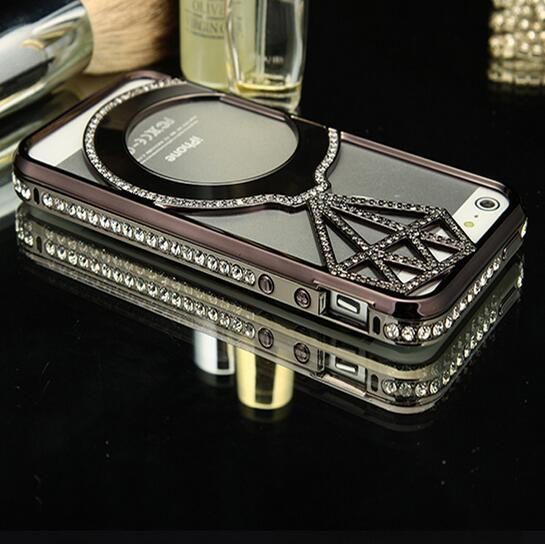 Factory Price Luxury Fashion Customized Cell Phone metal diamond Mobile Phone Case For Iphone 5s Iphone6 Iphone6s Mobile phones
