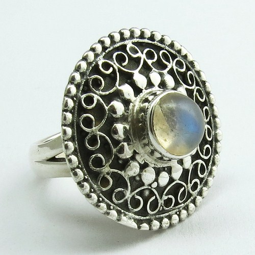 Big Sale !! Rainbow Moonstone 925 Sterling Silver Ring, 2017 Fashion Silver Jewelry, Beautiful Silver Jewelry