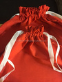 Red Ribbon Drawstring Bag (100% Cotton) High Quality