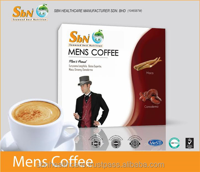 Instant Coffee with Stevia in Premium High Quality for Men Made in Malaysia