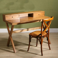 Solid Wood Office Desk and Chair in a Set for whole sale